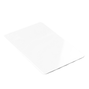 White plastic card