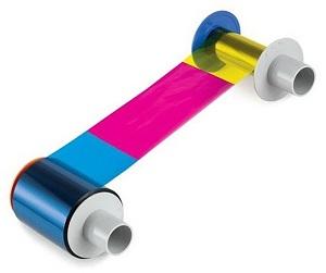 Plastkortskrivare färgband