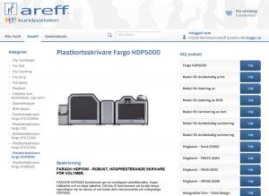 Areff webshop kundportal