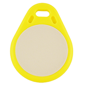 Keyfob Tearshape yellow