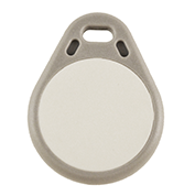 Keyfob Tearshape grey