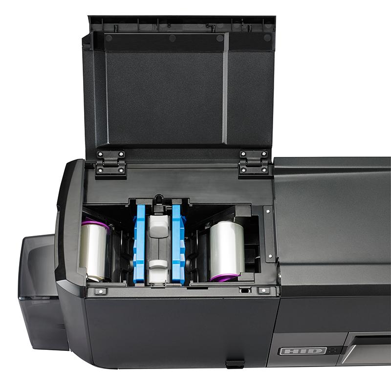 Ovanfrån plastkortprinter Areff Systems AB
