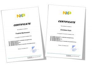 NXP-CERTIFICATE-2017