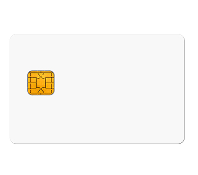 White card with chip