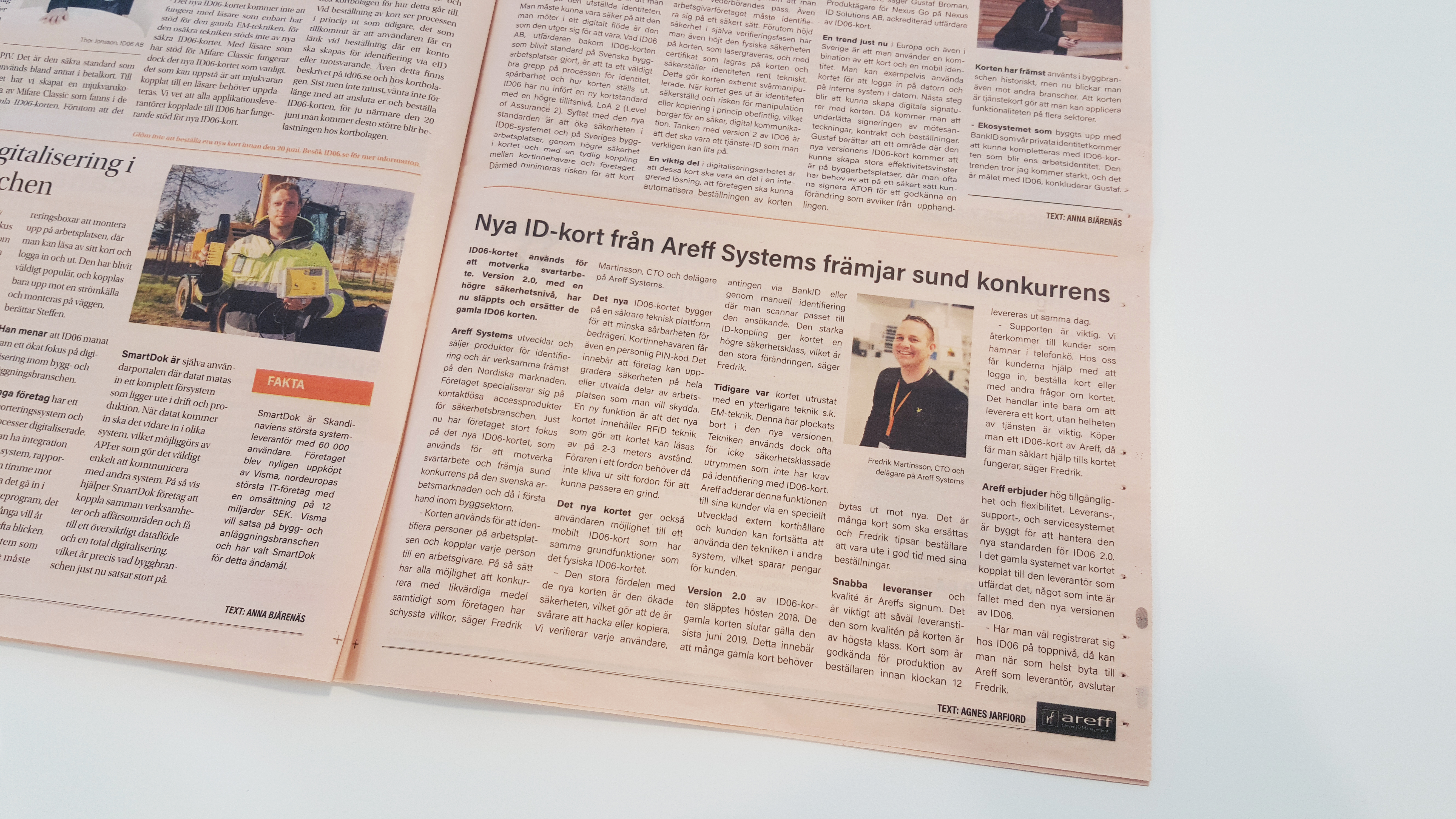 Dagens Industri Annons Areff Systems AB